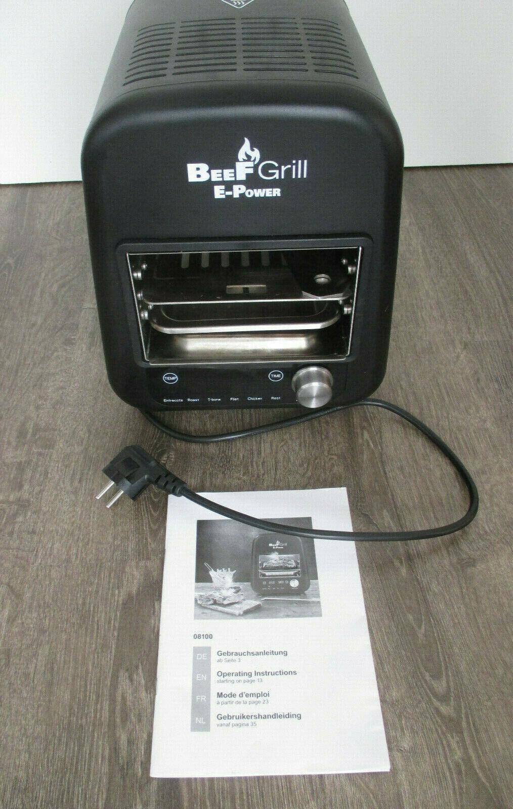 BeeF Grill GOURMET maxx E- Power Oberhitze- Elektrogrill 1600 Watt