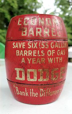 Vintage Dodge Economy Barrel Advertising Bank