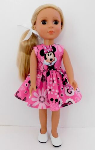 """New Handmade Doll Dress Fits 14"""" Doll ~ Handmade Doll Clothes by Bobbie"""