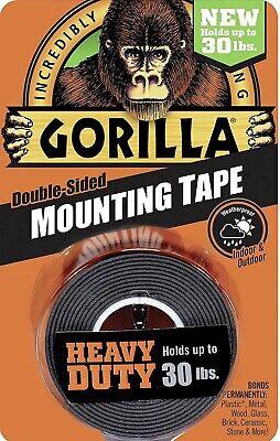 Gorilla Double Sided Mounting Tape Multi Surface Adhesive Weatherproof
