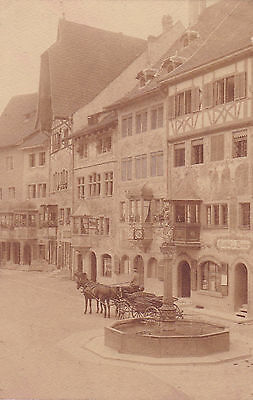PK Foto Zürich Gasthaus Brunnen  Burschenschaft Corps Tigurinia Studentika 1910