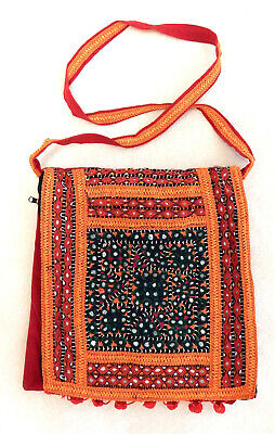 Handgefertigte Rote Tasche (Handtasche-Tasche Handtasche orientalisch Handgefertigt rot-orange NEU)