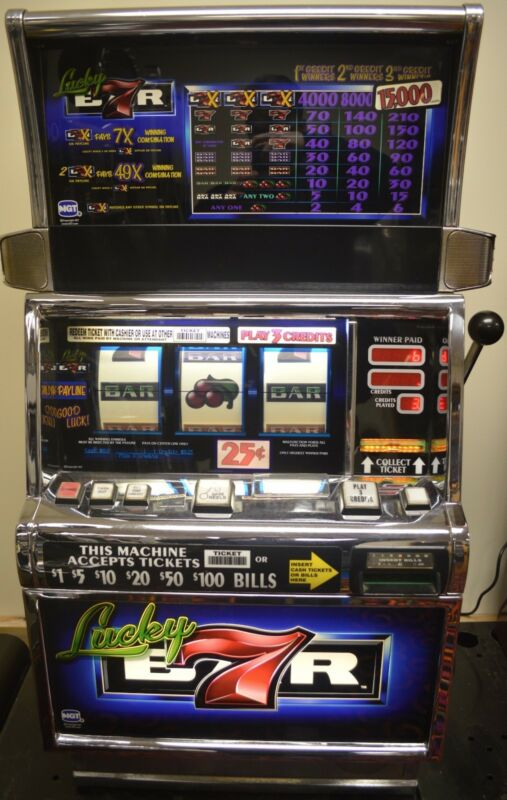 """IGT S2000 COINLESS SLOT MACHINE """"LUCKY 7"""