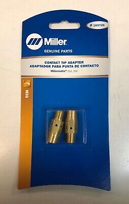 Miller Genuine Contact Tip Adapter For Millermatic 212 252 - 2 Pack - 169728