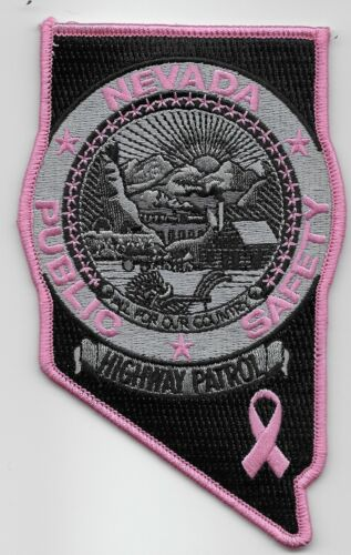 Nevada Highway Patrol Breast Cancer Awareness State Police NV Pink patch