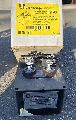 Sid Harvey Ignition Transformer Beckett Aafafg No.t92 Oil Burner
