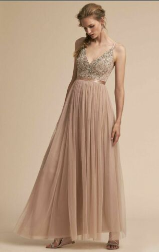 NWT BHLDN BLUSH AVERY DRESS- SIZE 12