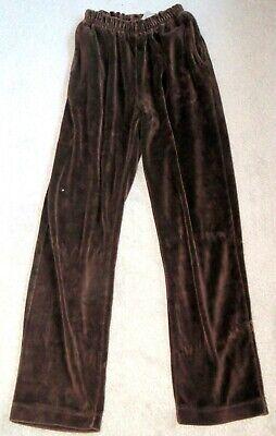 Liz Claiborne Petite Brown Velour Lounge Pant Size Petite XS Brown Velour Pants