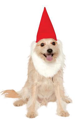 Pet Garden Gnome Hat with Beard Funny Cute Dog Cat Costume Halloween Fancy