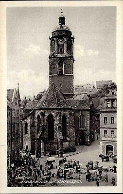 Meißen Sachsen Postkarte AK 1952 Frauenkirche Kirche Dom Glockenspiel Kathedrale