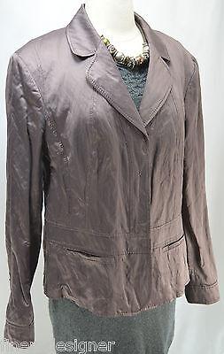 Marc Aurel Jacket Women's Size 42 Eur US L 12 Dress suit blazer shimmer coat NEW