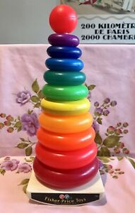 JOUET GIANT ROCK-A-STACK FISHER-PRICE VINTAGE 1970'