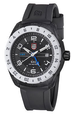 Luminox Men's A.5027 'SXC' GMT Black PC Carbon Black Rubber Watch