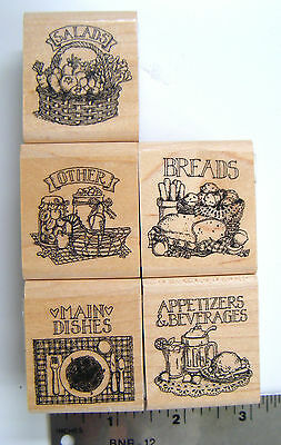 Recipe Fun rubber stamp set Salads Breads Appetizers