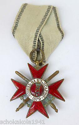 Königreich Bulgarien --Orden Für Tapferkeit 4 Klasse mit Schwertern--