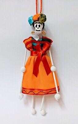 Mexican Folk Art Day of the Dead Frida Kahlo Figure Doll #004