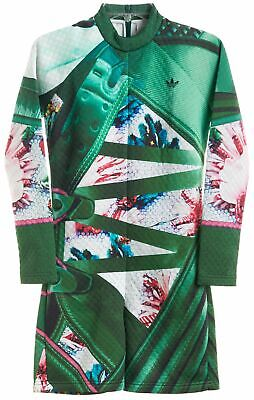 NEW MARY KATRANTZOU X ADIDAS ORIGINALS Green Mini Dress Sz S 606119