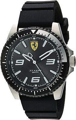 Ferrari Men's XX KERS Stainless Steel Black Quartz Watch Silicone Strap 0830464