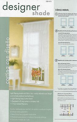 "lot of 4 Designer Window Drape Shade Curtain white 60"" width"