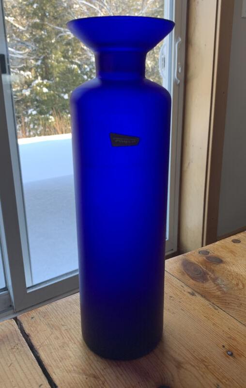 Fuger & Taube  Vase -  Vintage Blue 28 Cm High Germany 1960