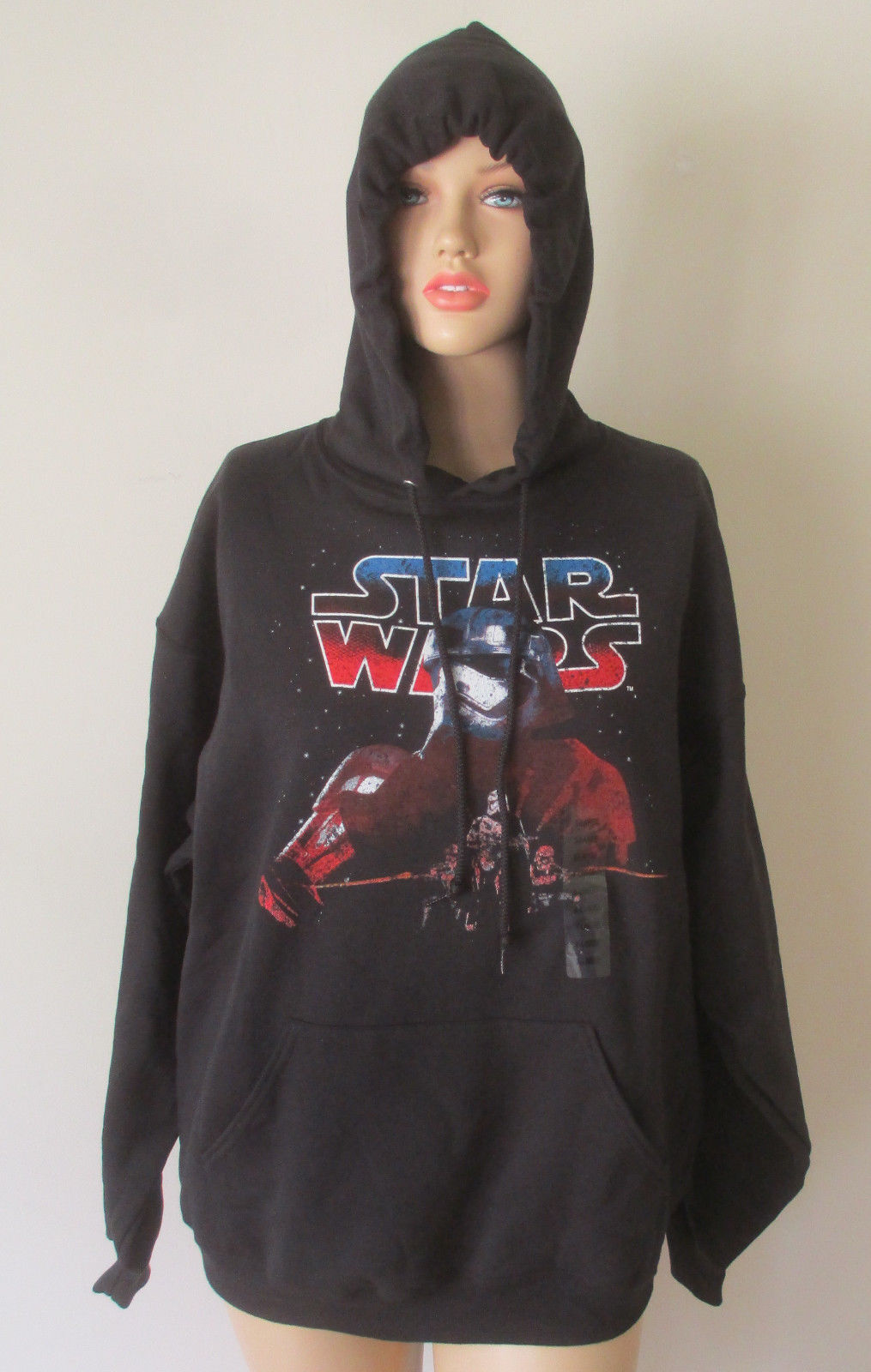 Mens Black Heavy Hoodie Star Wars S/XL/XXL Disney Pullover C