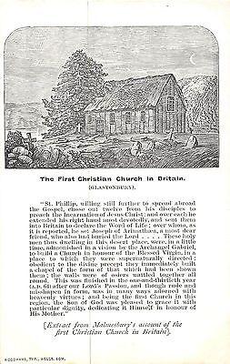 POSTCARD   RELIGIOUS    GLASTONBURY  The  First  Christian Church in  Britain