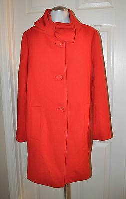 NWT Kate Spade NY Blaze A Trail Bow Neck Wool Coat Jacket Lollipop Red