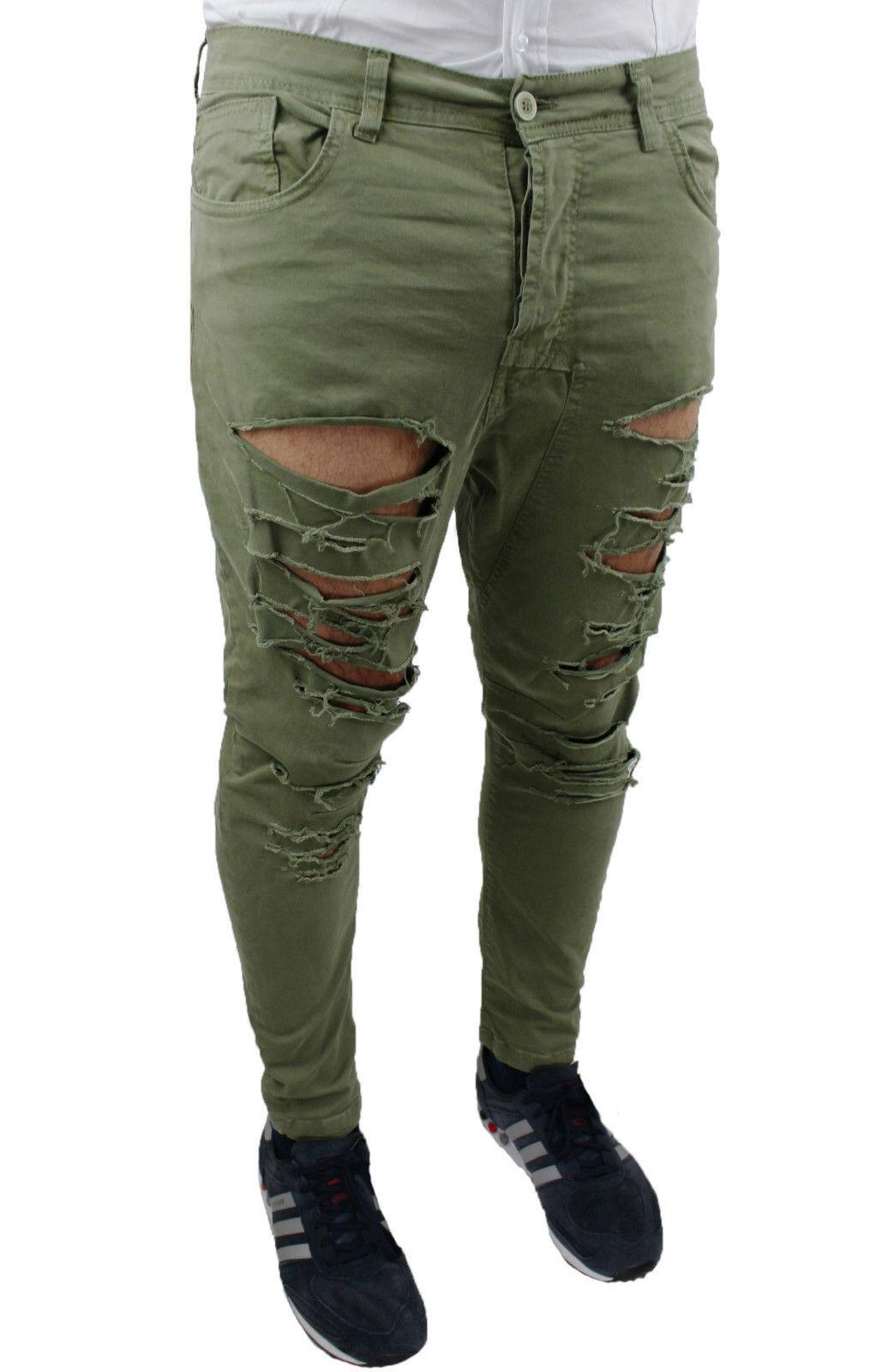 ro705c5a7 jeans verdi uomo