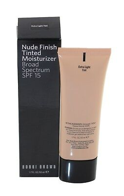 Bobbi Brown Nude Finish Tinted Moisturizer Spf15 (Extra Light Tint) New In - Normal Skin Tinted Moisturizer