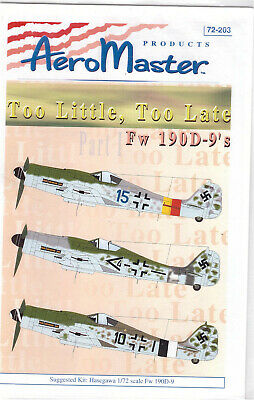 Focke Wulf Fw 190D-9 part 1 decals 1/72 Aero Master 72203