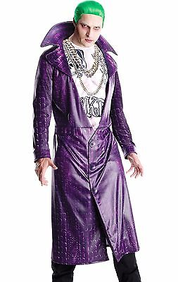 Suicide Squad The Joker Costume Deluxe Adult Leto - Std & XL - Fast Ship - - The Joker Adult Costume
