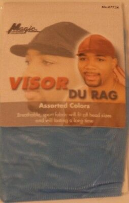 - Magic Sporty Visor Du-rag -Blue 100% Cool Mesh Fiber Breathable Superior Stretch