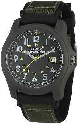 "Timex T42571, Men's ""Expedition Camper"" Black/Green Nylon Watch, Date, T425719J"