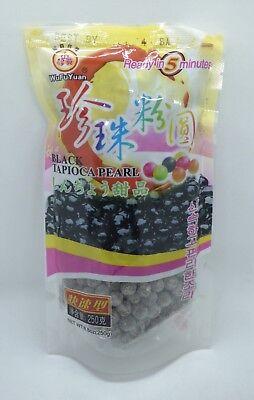 WUFUYUAN TAPIOCA PEARL (BLACK) (BUBBLE BOBA TEA) (250 Gram) *LOT of 1 BAG*