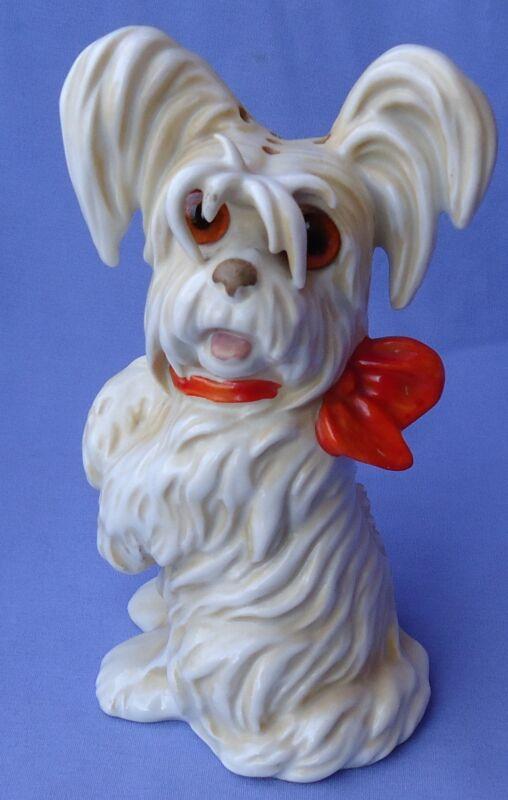 ART DECO SKYE SILKY PAPILLON TERRIER BRIARD PERFUME LAMP BOSSE  GOEBEL GERMANY