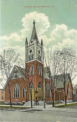1907 1915 Vintage Postcard  Lutheran Church  Clearfield Pa  Unposted