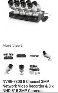 Swann 3mp cameras 1tb hard drive 1080p