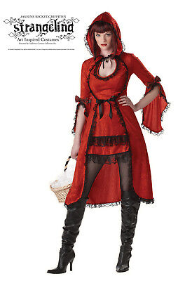 Classic Sexy Red Riding Hood Dark Gothic Adult Costume (Red Riding Hood Adult Costume)
