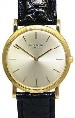Patek Philippe Calatrava 18k Yellow Gold Ultra Thin Mens 32mm Manual Watch 3498