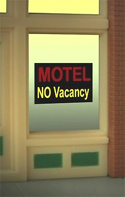 Motel No Vacancy Animated Neon Window Sign #8975 O/O27 HO scale for sale  Shipping to India