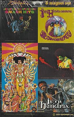 JIMI HENDRIX 6 magnets COLLECTABLE MAGNET SET 2005 official IMPORT sealed RARE