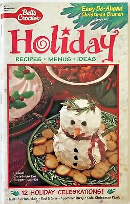 Betty Crocker Holiday Cookbook Recipes, Menus, Ideas Nov. 1996 - Halloween Ideas Games
