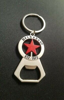 Beer Key Chain Bottle - Heineken Beer Key Chain Bottle Opener with Spinning Star Brand New