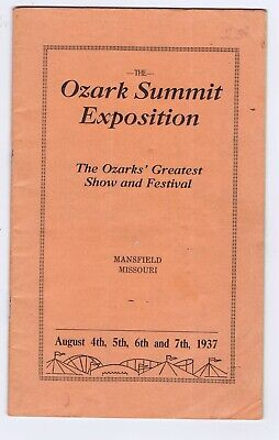Ozark Summit Exposition fair Mansfield Missouri program local ads (Summit Fair)