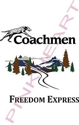 Coachmen freedom express Decals 2011 RV sticker graphics trailer camper vinyl LT