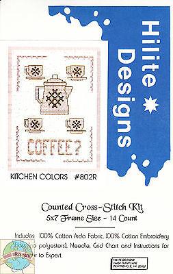 Cross Stitch Kit ~ Kitchen Colors - Coffee? #HD802R OOP SALE!
