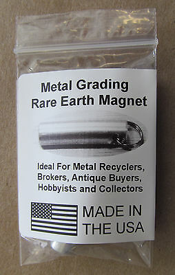 Antique & Jewelry Tester Magnet Keychain Test Brass, Gold, Silver KM02 6 lb