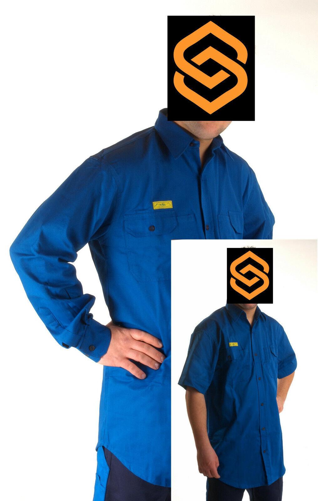 Arbeitshemd in Kurzarm & Langarm Herrenhemd Hemd Arbeitsshirt Business Kleidung