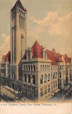 - PA285 Pittsburgh, Pennsylvania, Allegheny County Court House, 1909 Postcard