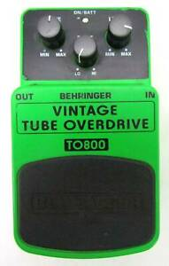 Behringer TO800 Vintage Tube Overdrive Guitar Effects Pedal
